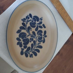 "Vintage Pfaltzgraff Folk Art 14 ""Platter"